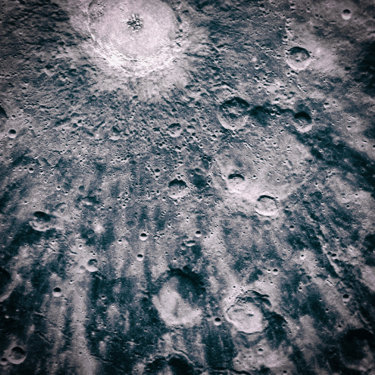 The Lunar surface in the vicinity of Copernicus crater.
