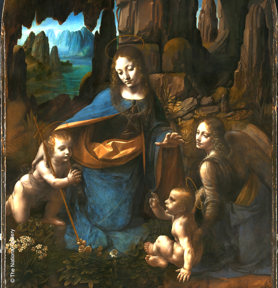 "Evolution of a Masterpiece: Da Vinci's ""Virgin of the Rocks"": Leonardo's final vision for the painting and what we can now see in the National Gallery in London"