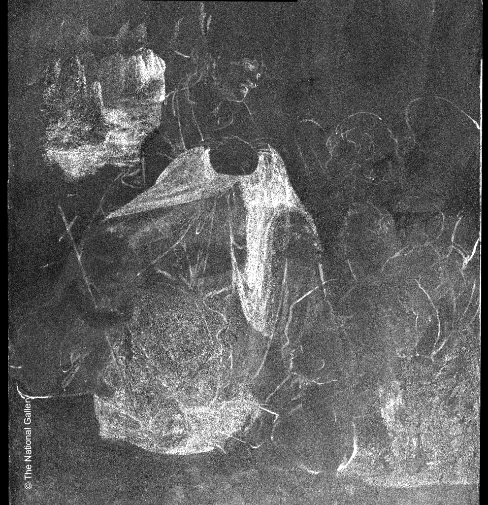 "Evolution of a Masterpiece: Da Vinci's ""Virgin of the Rocks"": Zinc map collected by the M6 JETSTREAM, showing Leonardo's original plan for the painting​"