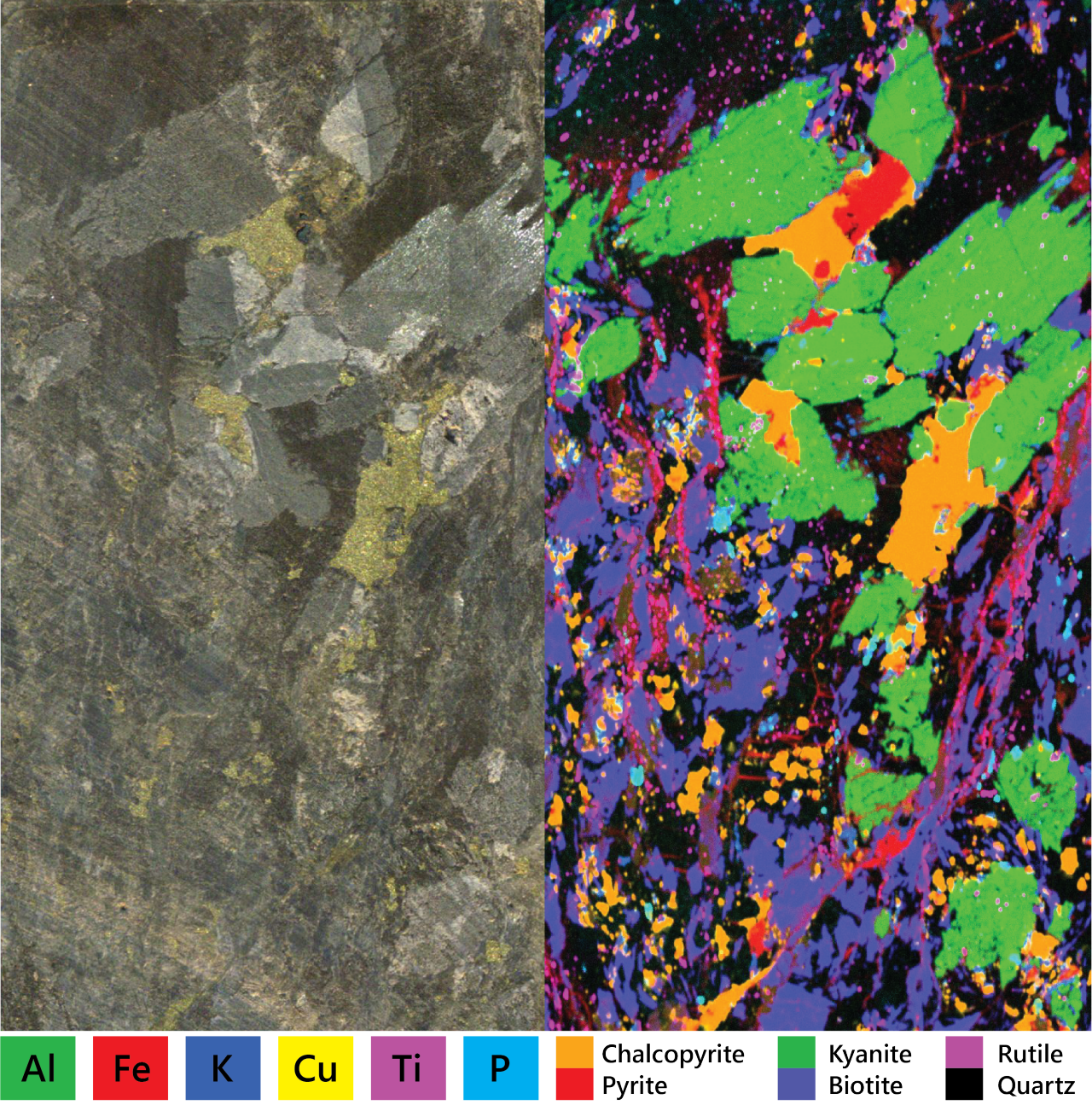 M4 TORNADO elemental map of copper mineralization