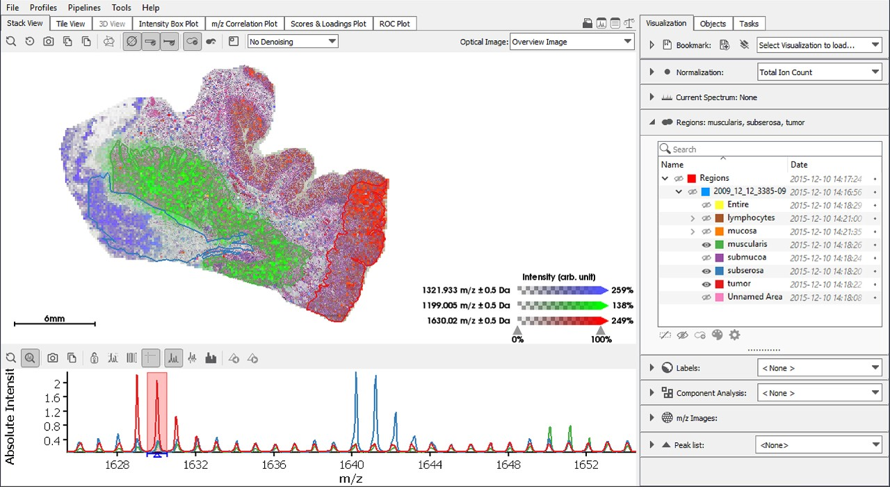 SCiLS Lab is the industry's tool of choice for deriving new insights from mass spectrometry imaging data. Used across science and industry, the software sets new standards in analysis and visualization, simplifying everyday work and boosting research output.
