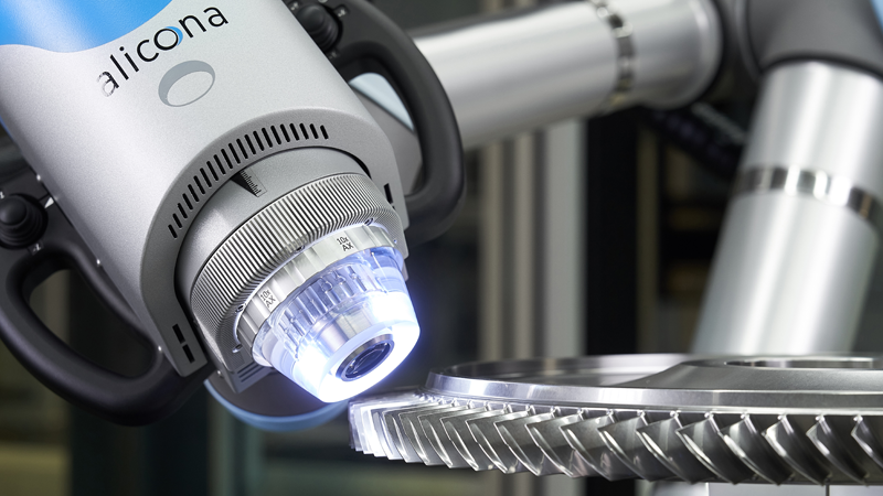 Bruker Alicona's Cobot measuring gear teeth dimensions
