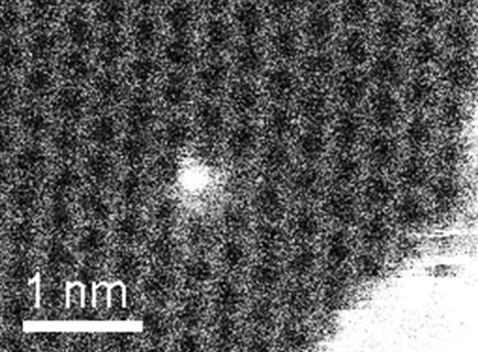 Single silicon atom in graphene